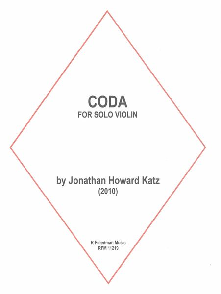Coda : For Solo Violin (2010).