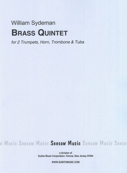Brass Quintet : For 2 Trumpets, Horn, Trombone and Tuba (1964).