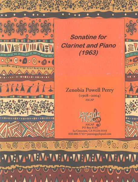 Sonatine : For Clarinet and Piano (1963) / edited by Deon Nielsen Price and Berkeley Price.