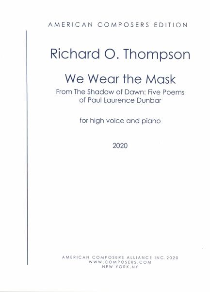 We Wear The Mask : For High Voice and Piano (2020).