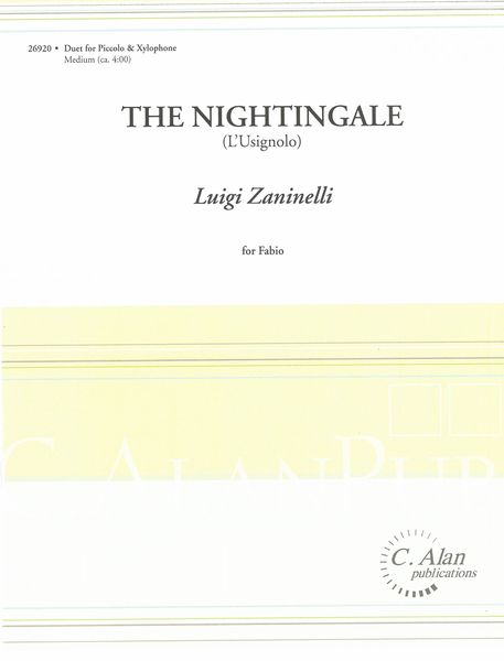 Nightingale (L'usignolo) : For Piccolo and Xylophone.