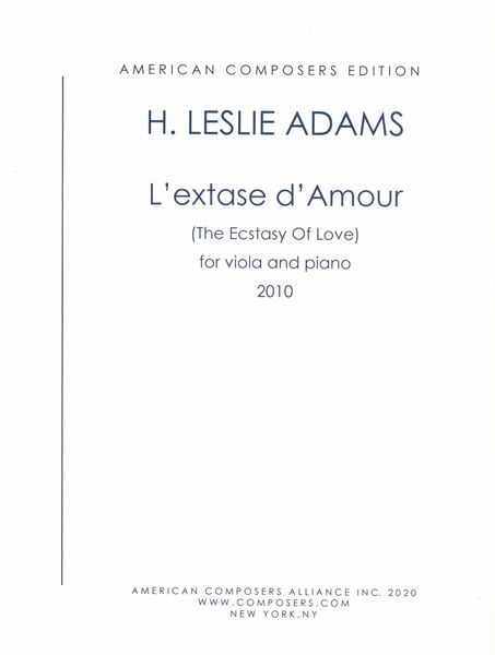 Extase d'Amour : For Viola and Piano.