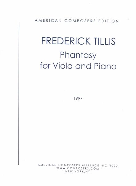 Phantasy : For Viola and Piano (1962, Rev. 1992).