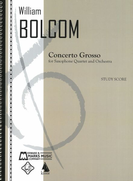 Concerto Grosso : For Saxophone Quartet and Orchestra.