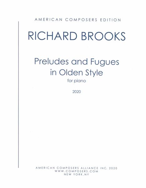Preludes and Fugues In Olden Style : For Piano (2020).