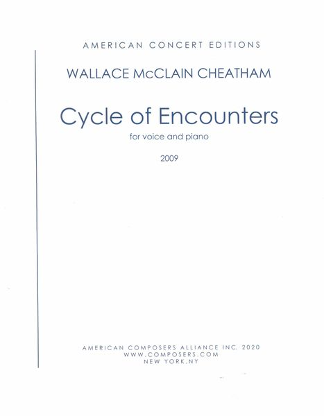 Cycle of Encounters : For Voice and Piano (2009).