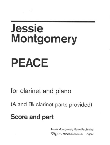 Peace : For Clarinet and Piano.