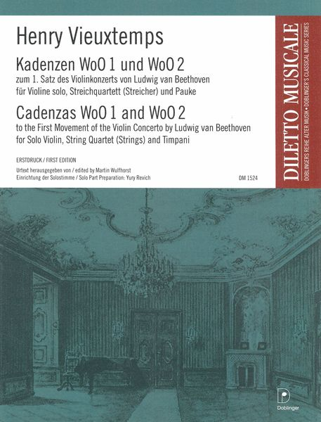 Cadenzas WoO 1 and WoO 2 To The First Movement of The Violin Concerto by Ludwig Van Beethoven.