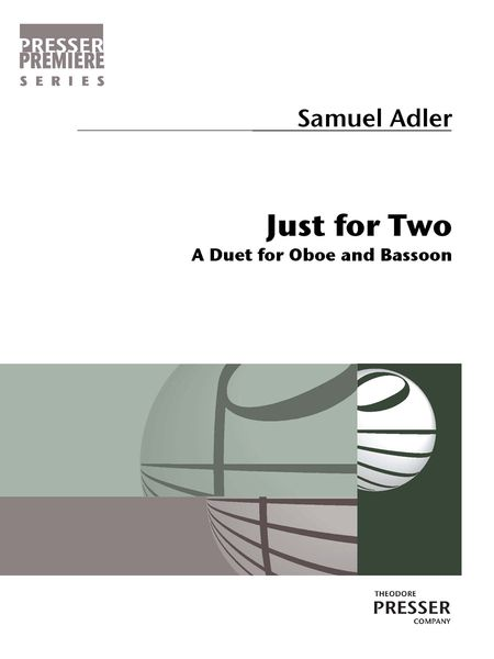 Just For Two : A Duet For Oboe and Bassoon.