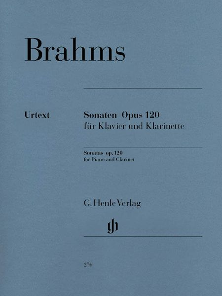 Sonatas, Op. 120, Nos. 1 and 2 : For Clarinet and Piano.