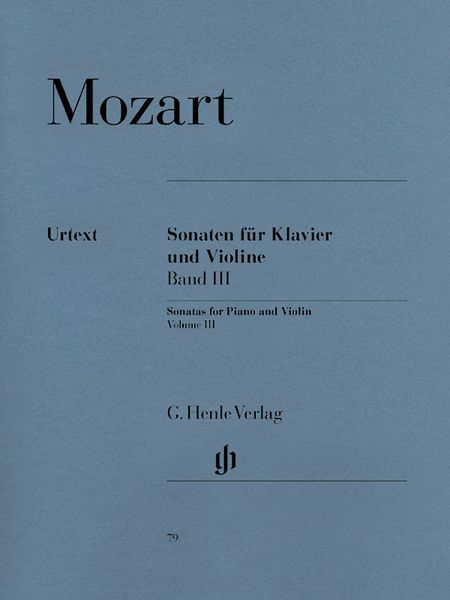 Violin Sonatas, Vol. 3 (Late Vienna Sonatas) : For Violin And Piano.