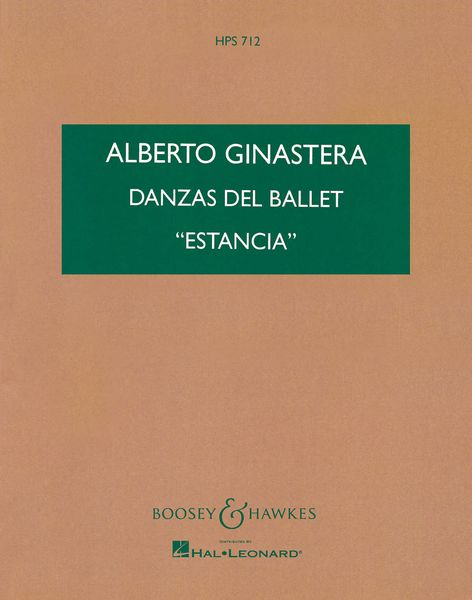 Estancia, Dances Op. 8a : For Orchestra.